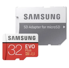 Samsung MicroSDHC EVO Plus 32GB Memory Card - Red