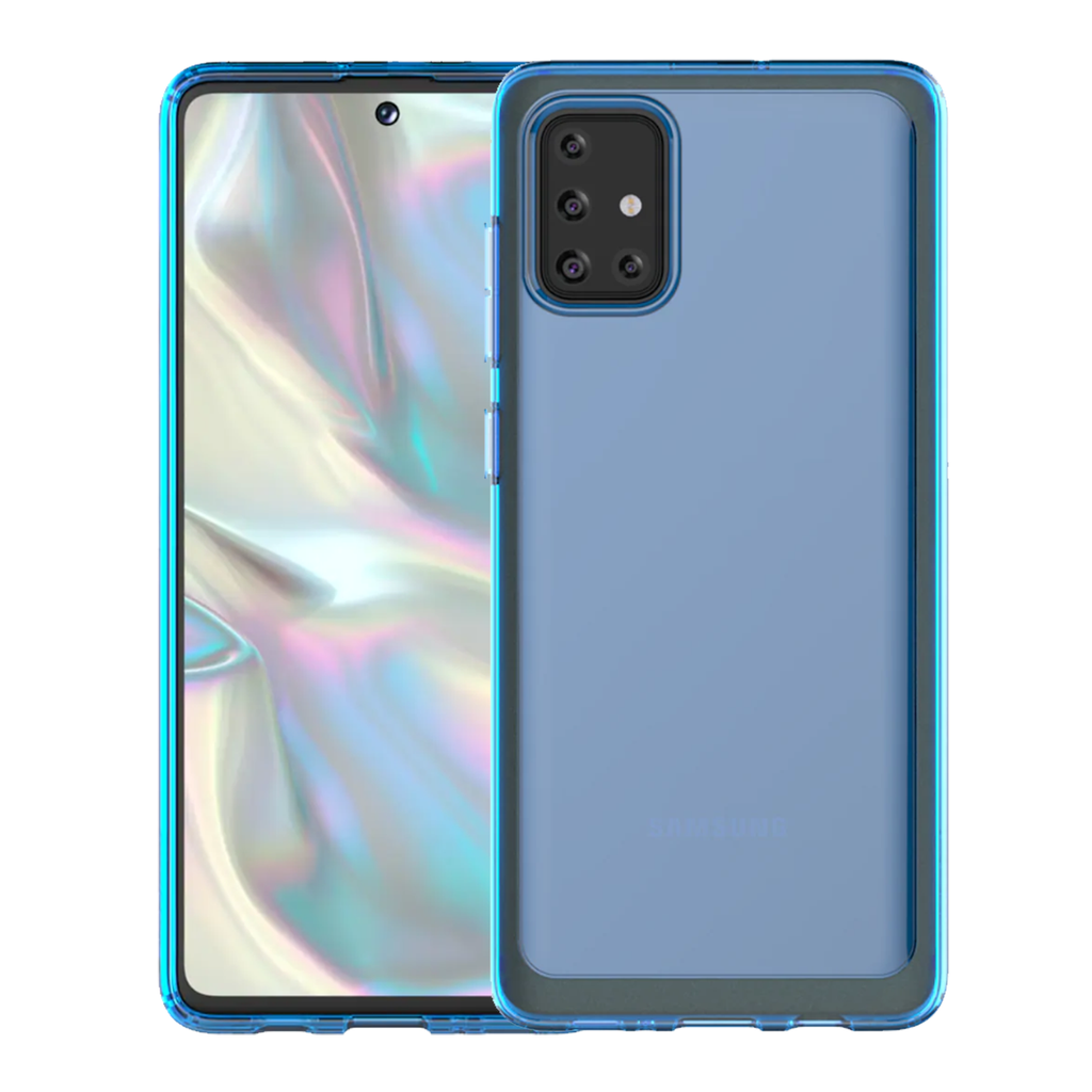 Samsung Araree TPU Cover for Galaxy A71 - Clear-Blue
