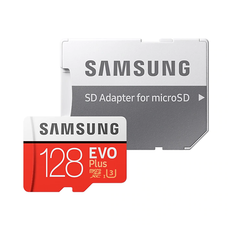 Samsung Evo Plus 128GB microSD Card (2020) - Red