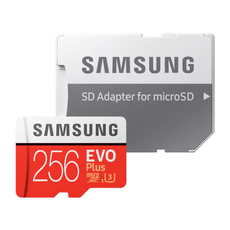 Samsung Evo Plus 256GB microSD Card - Red
