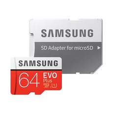 Samsung Evo Plus 64GB microSD Card (2020) - Red
