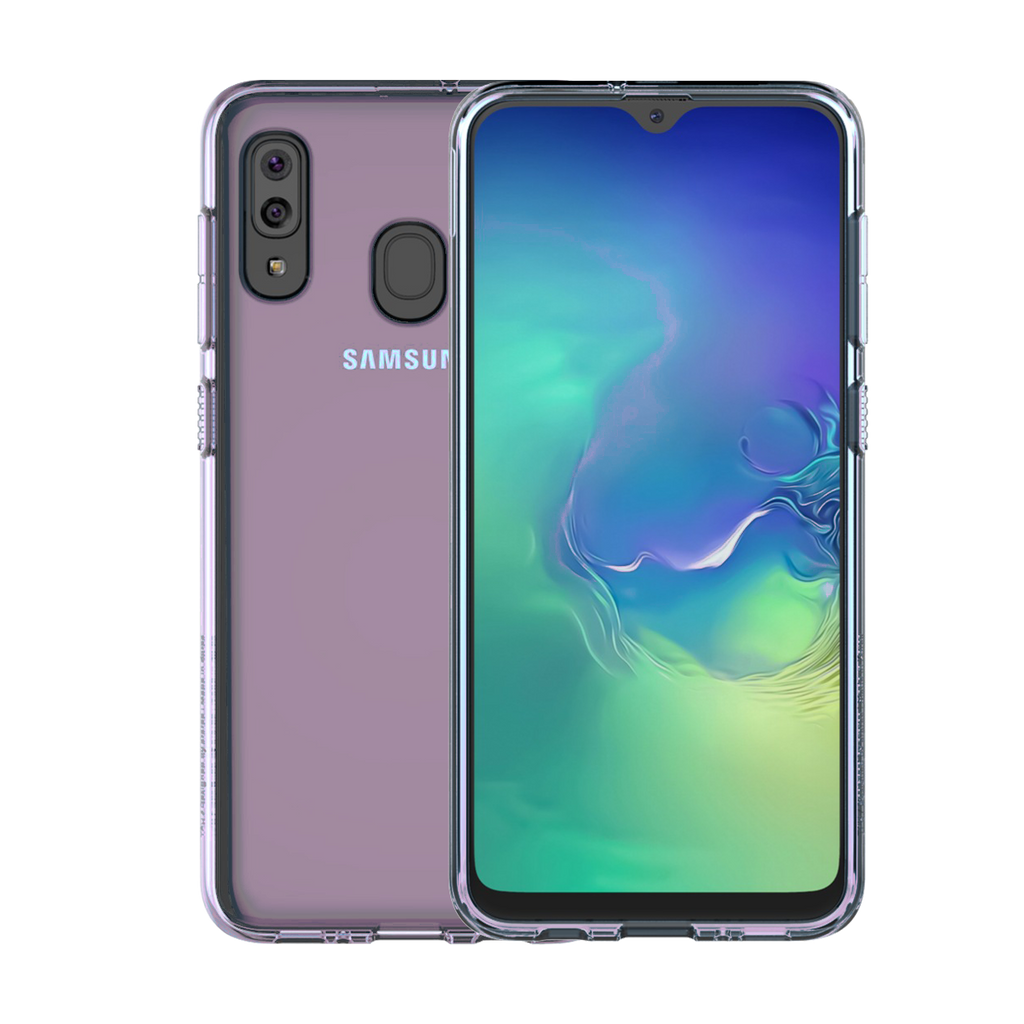 Samsung Gel Cover for Galaxy A20e - Clear-Violet