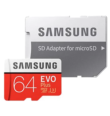 Samsung MicroSDXC EVO Plus 64GB Memory Card - Red
