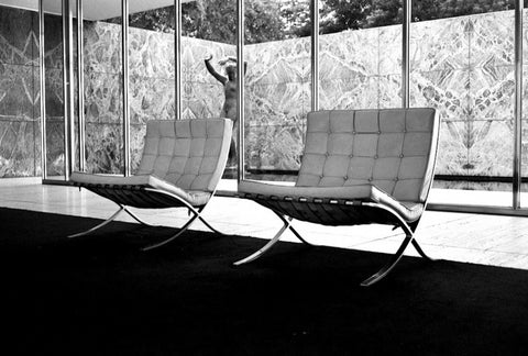 The first Barcelona chairs built for the Pavilion & The History behind the Barcelona Chair