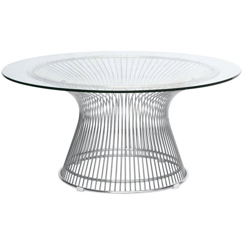 Wire Side Table - Glass