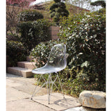 GlossWire Dining Side Chair - Clear