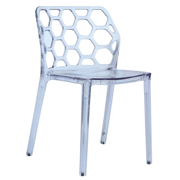 Honeycomb Dining Chair - Clear
