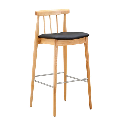 Thin Bar Stool - Black