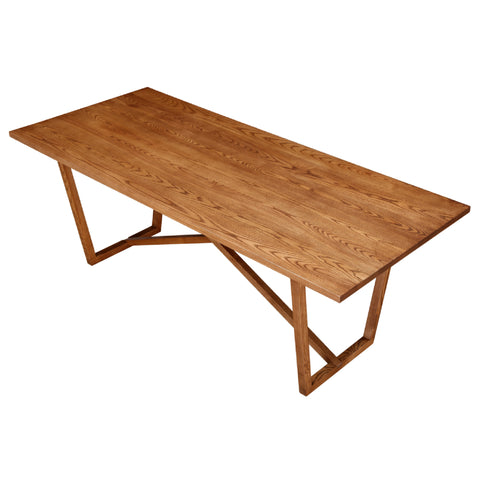 Tricolor Dining Table - Walnut
