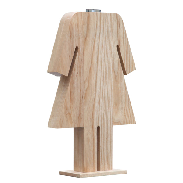 Person Table Lamp Female - Natural
