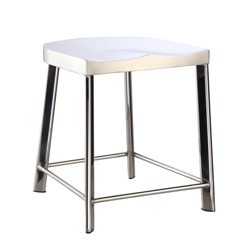 Swiss Polished Bar Chair - Silver