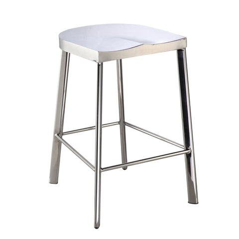 Swiss Polished Counter Stool - Silver