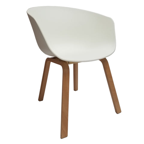 Shen Odger Dining Chair - White