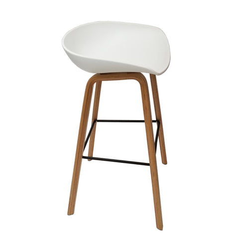 Shen Odger Bar Stool - White