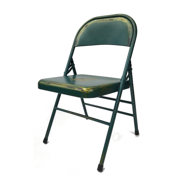 Turquoise Antique Folding Chair - Turquoise