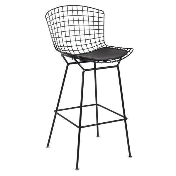 Black Wire Counter Chair - Black