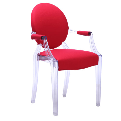 Gus Arm Chair - Clear - Set of 2 Chairs