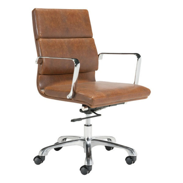 Soft Pad Office Chair Mid Back - Brown