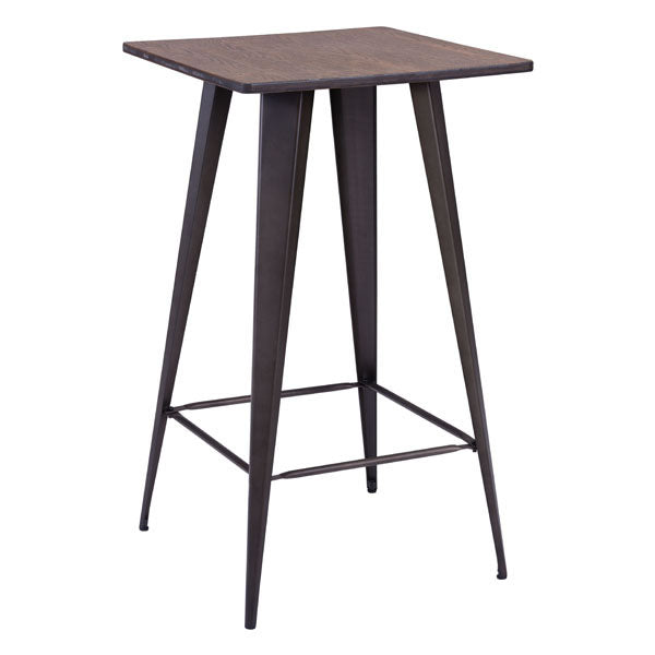 Titus Bar Table Rusty & Elm Wood Top