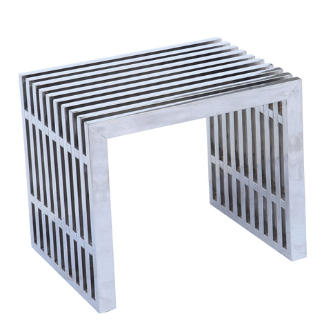 Zeta Stainless Steel Bench Short - Silver