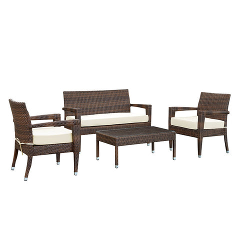 Stride 4 Piece Outdoor Patio Sofa Set