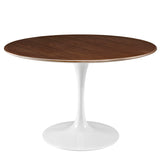 "Lippa 47"" Round Walnut Dining Table"