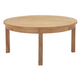 Marina Outdoor Patio Teak Round Coffee Table