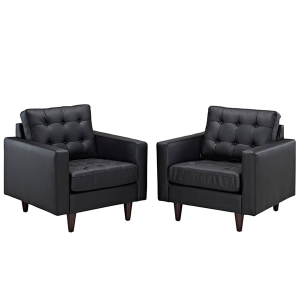 Empress Armchair Leather Set of 2