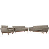 Engage Sofa Loveseat and Armchair Set of 3