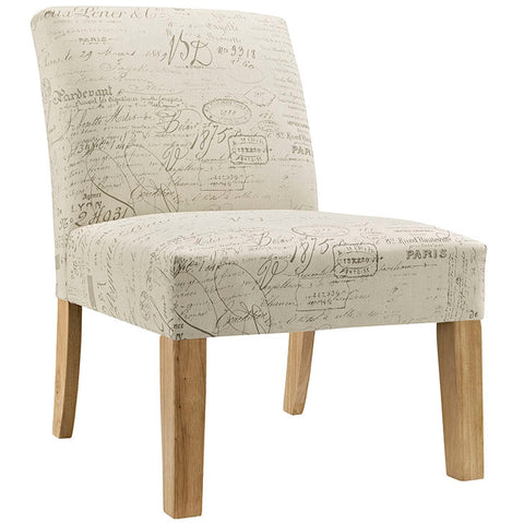 Auteur Upholstered Fabric Side Chair