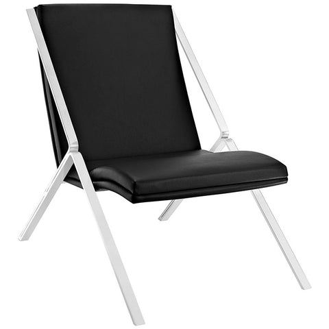 Swing Upholstered Vinyl Lounge Chair
