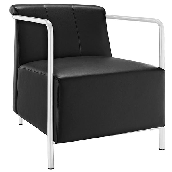 Ebb Upholstered Vinyl Lounge Chair