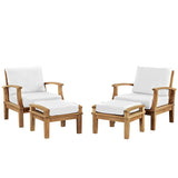 Marina 4 Piece Outdoor Patio Teak Sofa Set