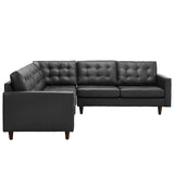Empress 3 Piece Bonded Leather Sectional Sofa Set