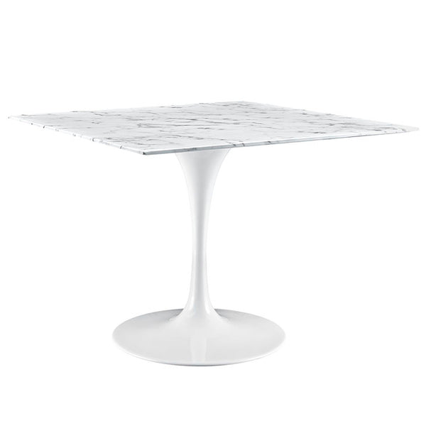 "Lippa 40"" Square Artificial Marble Dining Table"