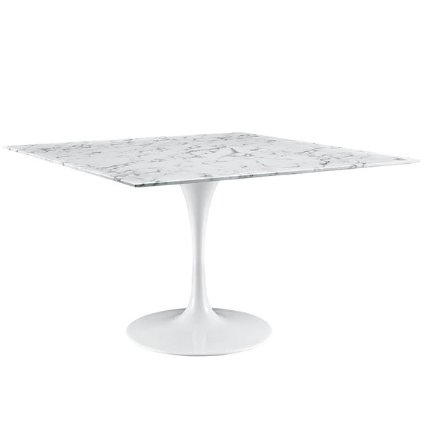 "Lippa 48"" Square Artificial Marble Dining Table"