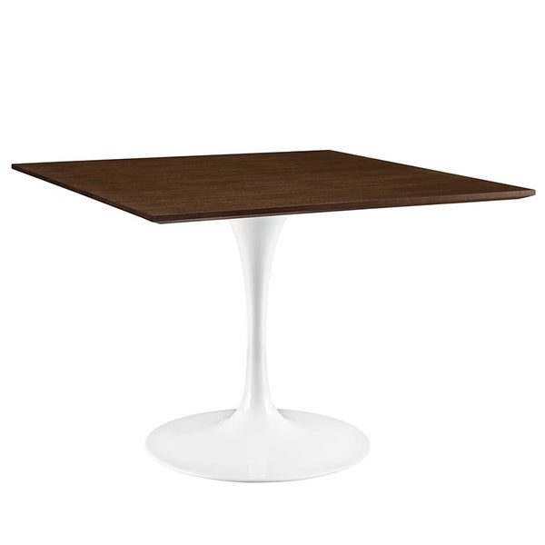 "Lippa 40"" Square Walnut Dining Table"