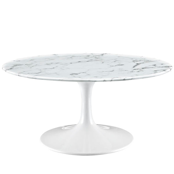 "Lippa 36"" Artificial Marble Coffee Table"
