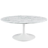 "Lippa 40"" Artificial Marble Coffee Table"