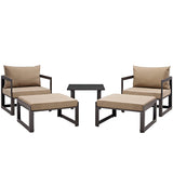 Fortuna 5 Piece Outdoor Patio Sectional Sofa Set