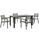 Maine 5 Piece Outdoor Patio Dining Set