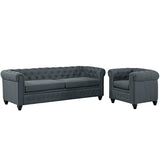 Earl 2 Piece Upholstered Fabric Living Room Set