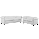Earl 2 Piece Upholstered Vinyl Living Room Set-1779