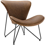 Glide Faux Leather Lounge Chair