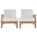 Marina 2 Piece Outdoor Patio Teak Sofa Set