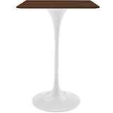 "Lippa 28"" Walnut Bar Table"