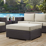 Convene Outdoor Patio Large Square Ottoman