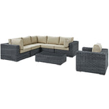 Summon 7 Piece Outdoor Patio Sunbrella® Sectional Set