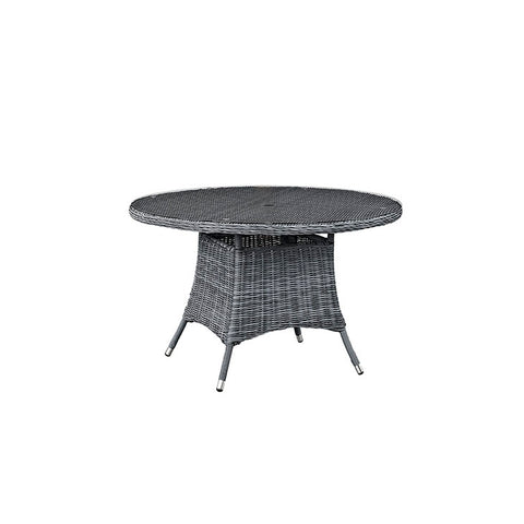 "Summon 47"" Round Outdoor Patio Dining Table"