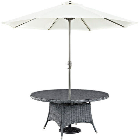 "Summon 59"" Round Outdoor Patio Dining Table"